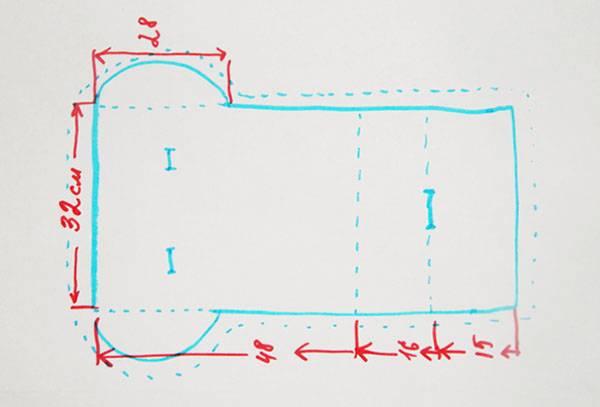 Схема раскроя матрасика в детскую коляску