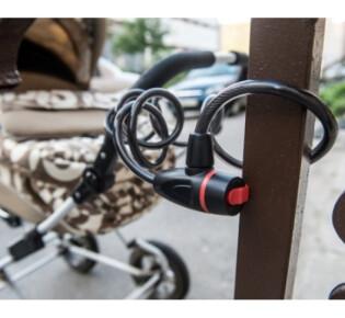 Замки для коляски — купить трос с замком для коляски