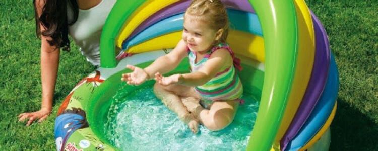 Детские бассейны для дачи: надувные с горкой и недорогие каркасные и пластиковые модели для ребенка