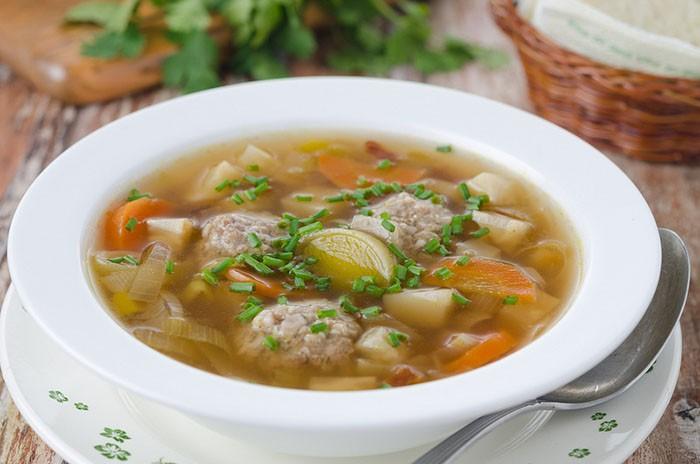 суп с фрикадельками при гв